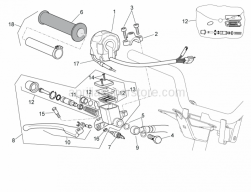 Frame - Rh Controls - Aprilia - Front brake pipe