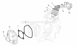 Engine - Cylinder Head/Throttle Body - Aprilia - Outer gasket head