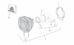 Engine - Cylinder With Piston - Aprilia - Piston-wrist pin assy. (Category 1)