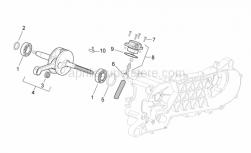 Engine - Drive Shaft - Aprilia - Flywheel side seal ring