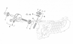 Engine - Drive Shaft - Aprilia - Gear side seal ring