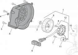 Engine - Flywheel - Aprilia - Stator cpl.
