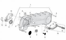 Engine - Transmission Cover - Aprilia - Starting shaft