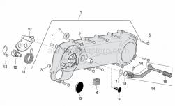 Engine - Transmission Cover - Aprilia - Starting shaft