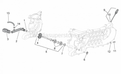 Engine - Water Pump - Aprilia - Water outlet union