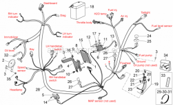 Frame - Electrical System I - Aprilia - HT wire