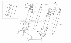 Frame - Front Fork III - Aprilia - Stroke limit stop