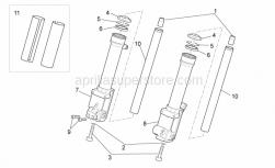Frame - Front Fork III - Aprilia - RH sleeve