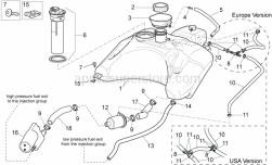 Frame - Fuel Tank I - Aprilia - White hose clip d.13x6
