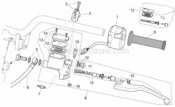 Frame - Lh Controls - Aprilia - LH lights selector
