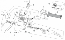 Frame - Lh Controls - Aprilia - Rear master cylinder D.12,7