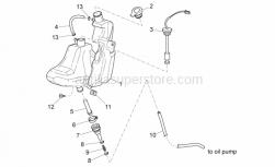 Frame - Oil Tank - Aprilia - Hose clip D8,5x5,5
