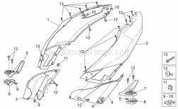 Frame - Rear Body I - Aprilia - RH Half-rear fairing