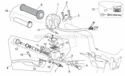 Frame - Rh Controls - Aprilia - Lever assy (GRIMECA)