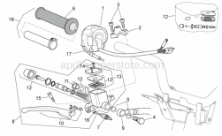 Frame - Rh Controls - Aprilia - Tank cover, assy