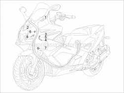 Braking System - Transmissions - Transmissions - Aprilia - Hose clamp