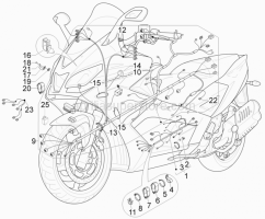 Electrical System - Main Cable Harness - Aprilia - Pipings betaining spring