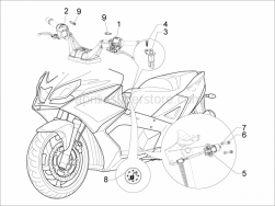 Electrical System - Selectors - Switches - Buttons - Aprilia - WASHER