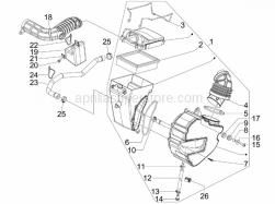 Engine - Air Filter - Aprilia - Screw w/ flange
