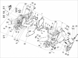 Engine - Crankcase - Aprilia - Reed valve support
