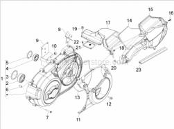 Engine - Crankcase Cover - Crankcase Cooling - Aprilia - Bearing 20x42x1