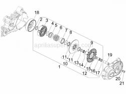 Engine - Driven Pulley - Aprilia - Centrifugal clutch assy