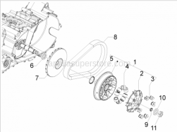 Engine - Driving Pulley - Aprilia - Half-pulley assy., driving