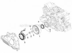 Engine - Flywheel Magneto - Aprilia - Stator cpl.