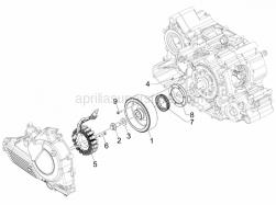 Engine - Flywheel Magneto - Aprilia - Hex socket screw M6x18