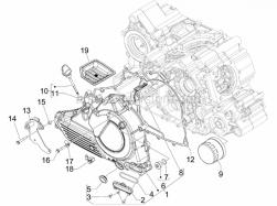 Engine - Flywheel Magneto Cover - Oil Filter - Aprilia - Screw w/ flange M6x45