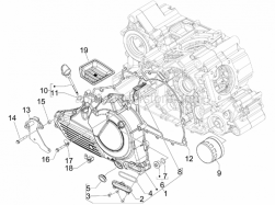 Engine - Flywheel Magneto Cover - Oil Filter - Aprilia - Clamp