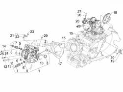 Engine - Head Unit - Valve - Aprilia - Dado esagonale alto