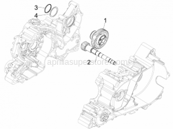Engine - Reduction Unit - Aprilia - Driven pulley shaft
