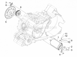 Engine - Stater - Electric Starter - Aprilia - Plate