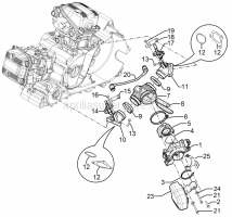 Engine - Throttle Body - Injector - Union Pipe - Aprilia - Screw w/ flange M5x16