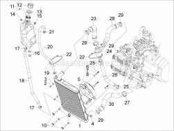 Frame - Plastic Parts - Coachwork - Cooling System - Aprilia - Pin