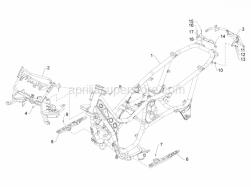 Frame - Plastic Parts - Coachwork - Frame/Bodywork - Aprilia - Flat washer 16x6,5x1,5