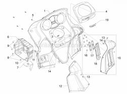 Frame - Plastic Parts - Coachwork - Front Glove-Box - Knee-Guard Panel - Aprilia - METRICAL SCREW