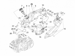 Frame - Plastic Parts - Coachwork - Fuel Tank - Aprilia - GASKET