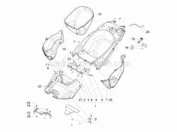 Frame - Plastic Parts - Coachwork - Helmet Huosing - Undersaddle - Aprilia - Washer 4,5x12x1