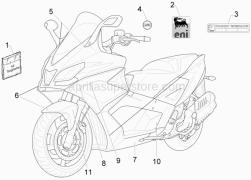 Frame - Plastic Parts - Coachwork - Plates - Emblems - Aprilia - Targhetta Eni