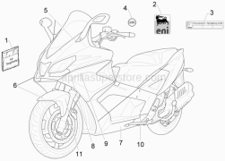 Frame - Plastic Parts - Coachwork - Plates - Emblems - Aprilia - Name plate Piaggio Technology