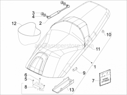 Frame - Plastic Parts - Coachwork - Saddle/Seats - Tool Roll - Aprilia - Nut M8x6,5