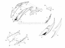 Frame - Plastic Parts - Coachwork - Side Cover - Spoiler - Aprilia - Spring plate