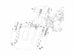 Suspensions - Wheels - Fork/Steering Tube - Steering Bearing Unit - Aprilia - FORK SCREW