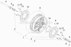 Suspensions - Wheels - Front Wheel - Aprilia - Hex socket screw