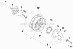Suspensions - Wheels - Rear Wheel - Aprilia - Pin