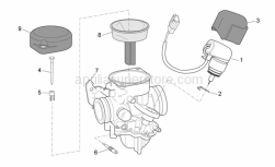Engine - Carburettor Ii - Aprilia - Bracket