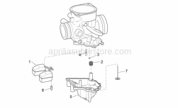Engine - Carburettor III - Aprilia - FLOAT BOWL