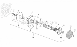 Engine - Clutch - Aprilia - Ring